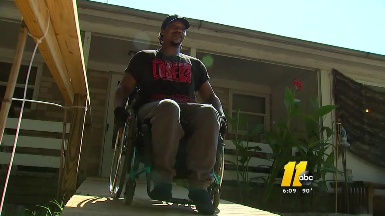 Man builds ramp for friend who was shot
