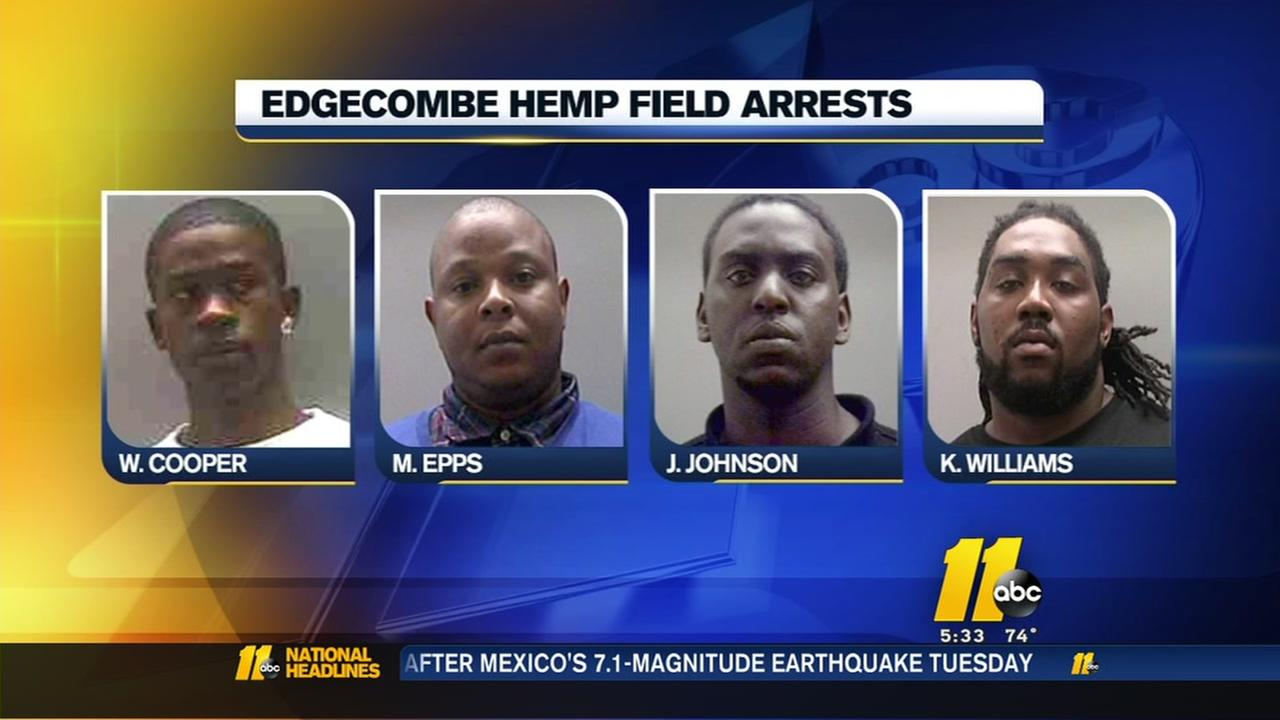 Edgecombe County deputies monitoring hemp fields amid arrests