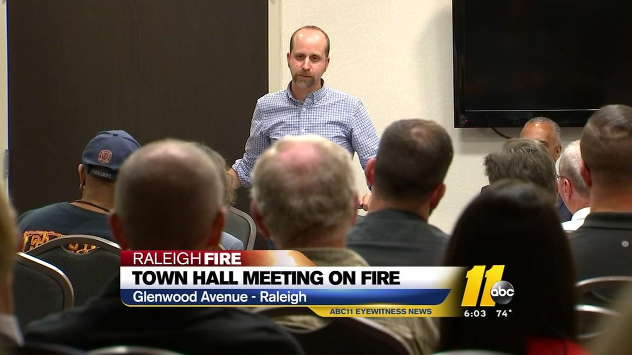 Town hall meeting held on Raleigh fire.