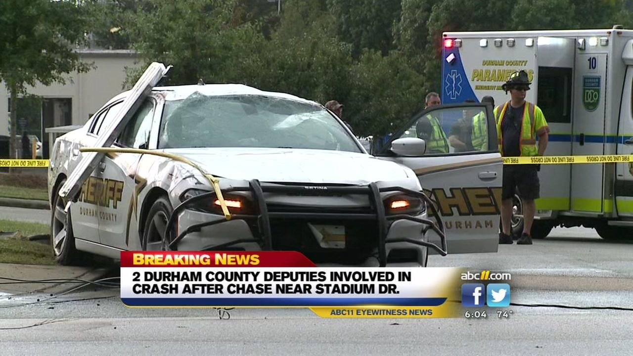 2 Durham deputies involved in crash
