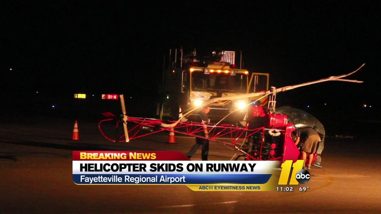 Helicopter makes emergency hard landing