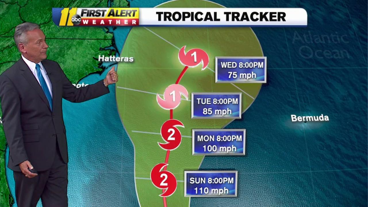 Latest track for Hurricane Maria
