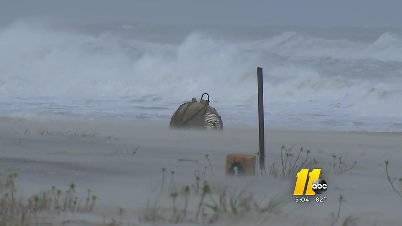 Possible unexploded ordnance on NC beach