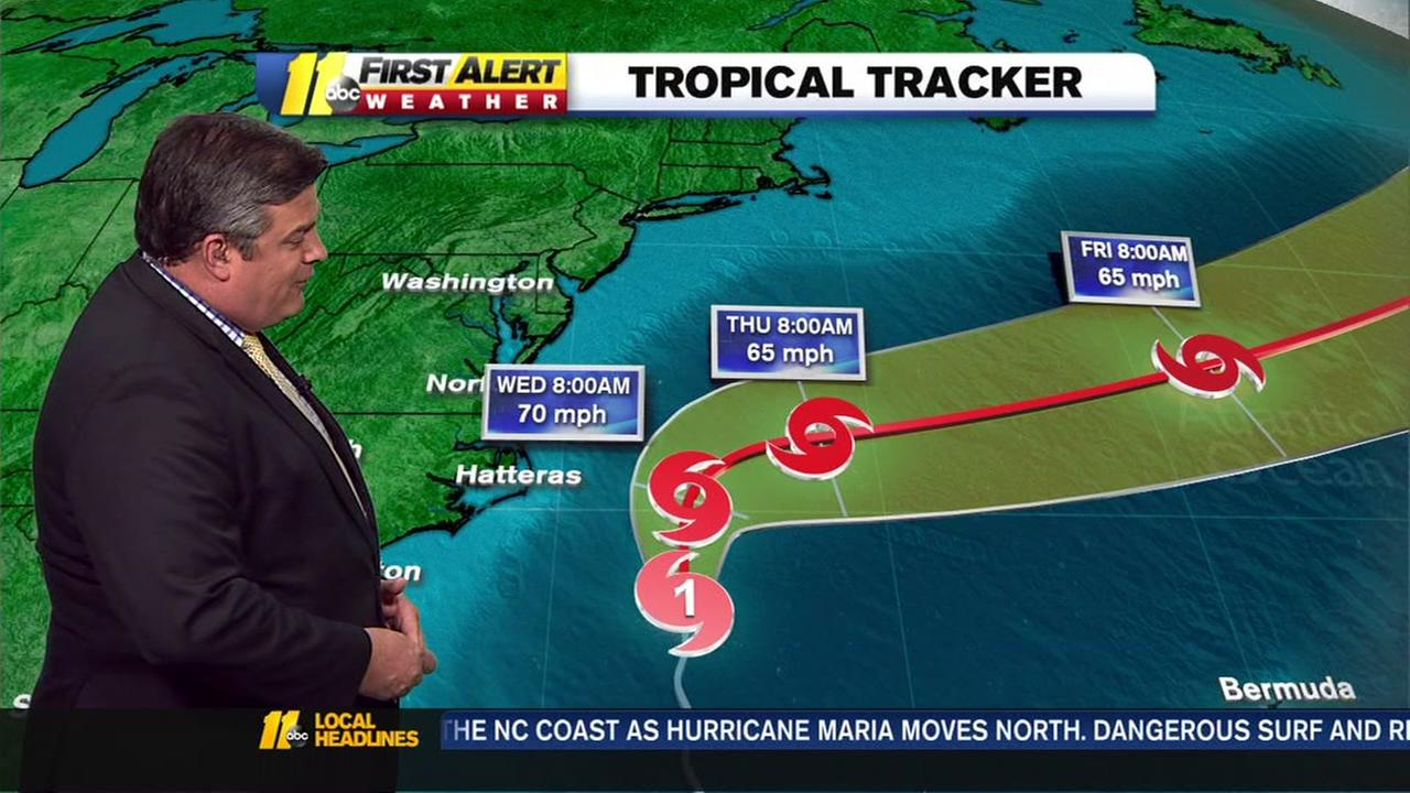 Maria brings high surf to Outer Banks