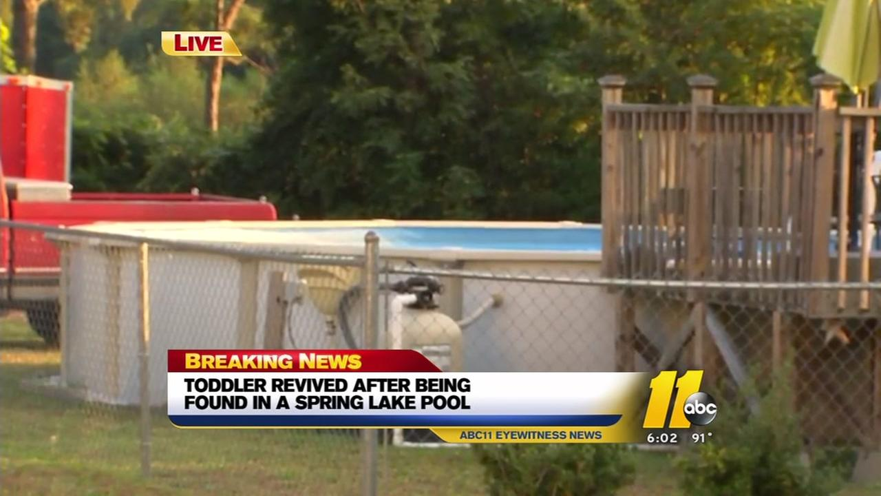 2-year-old girl found face down in Spring Lake pool