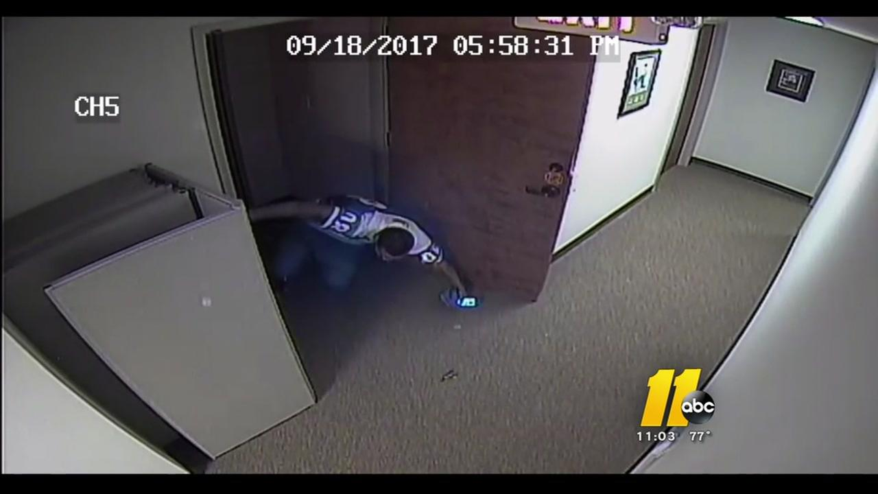 Intruder bursts through door, gets shot by accountant