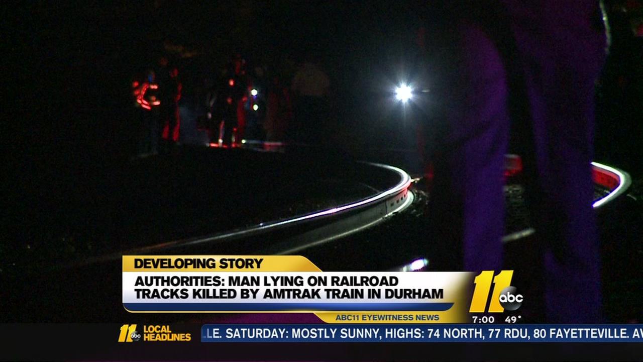Man hit by Amtrak train in Durham