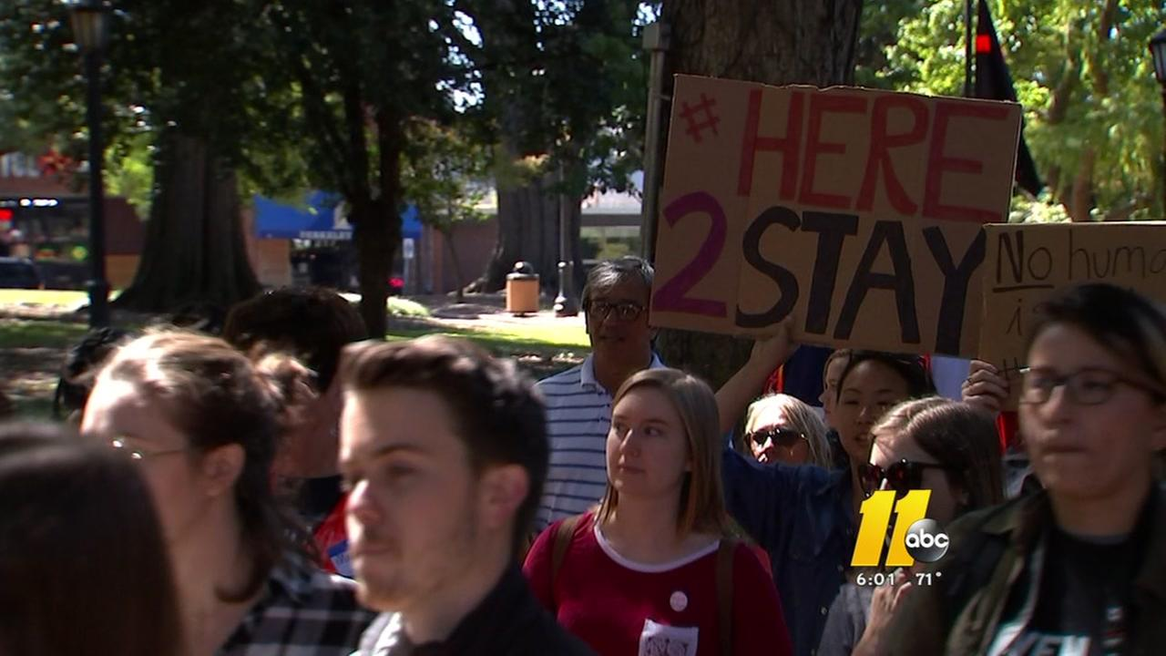 NC State student leads march for DACA immigrants