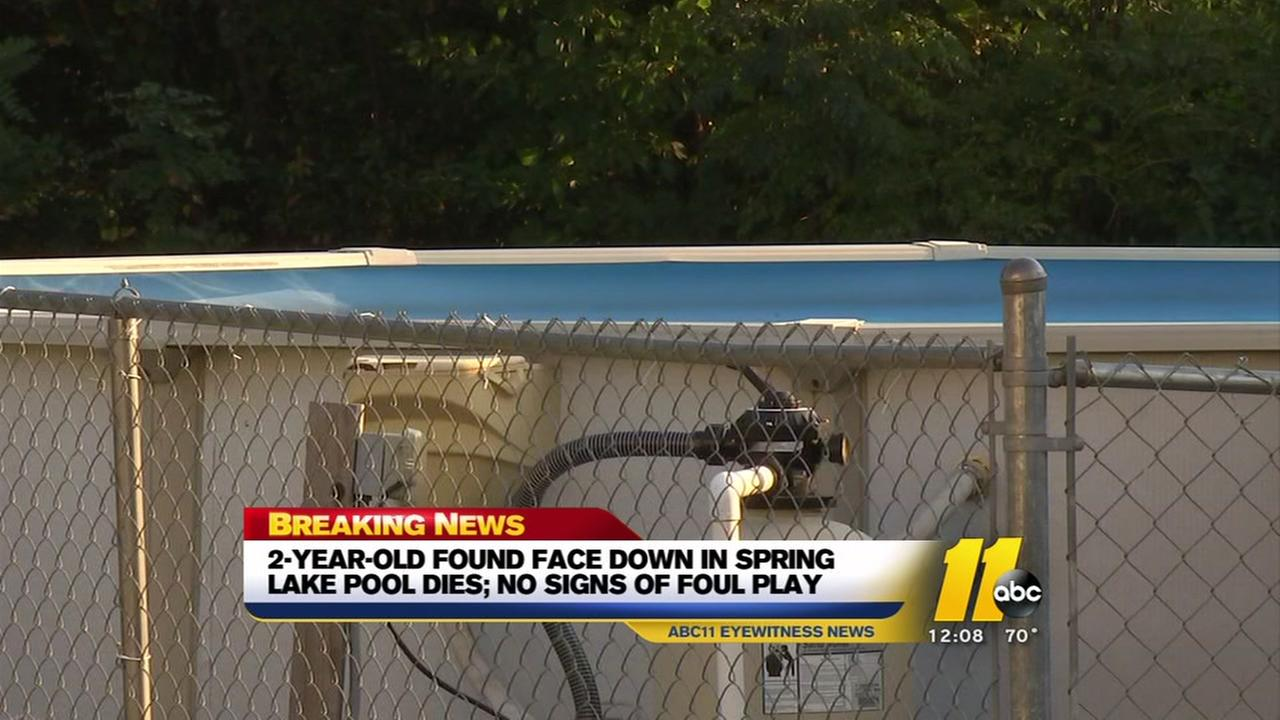 2-year-old found face down in Spring Lake pool dies