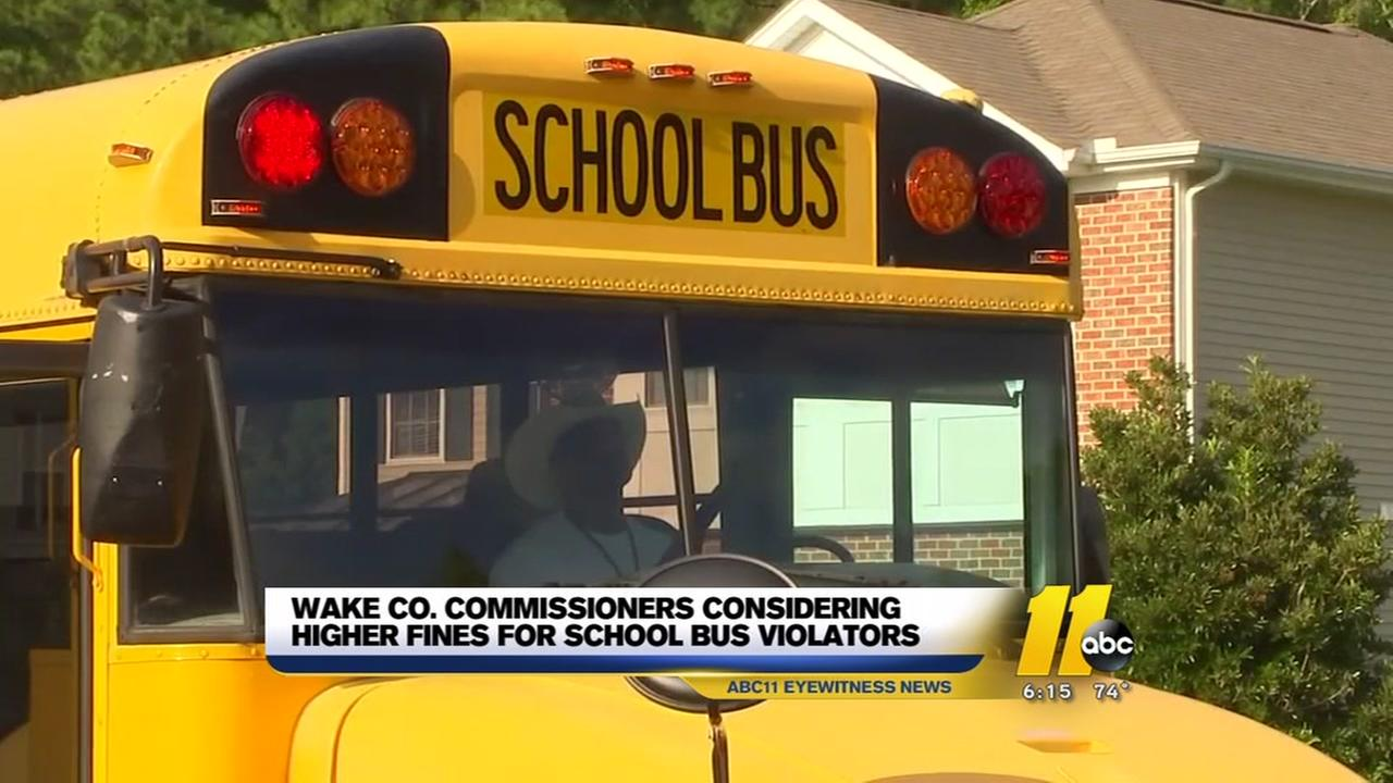 Wake County to impose fines on drivers caught illegally passing school buses
