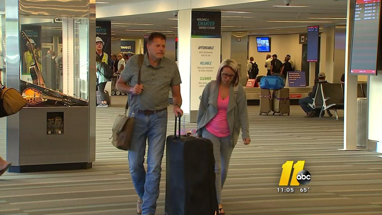 Shaken NC residents return home from Las Vegas