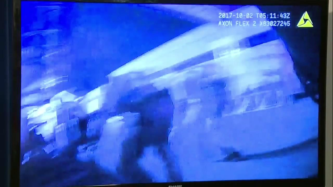 Body-cam video shows officers during Las Vegas shooting
