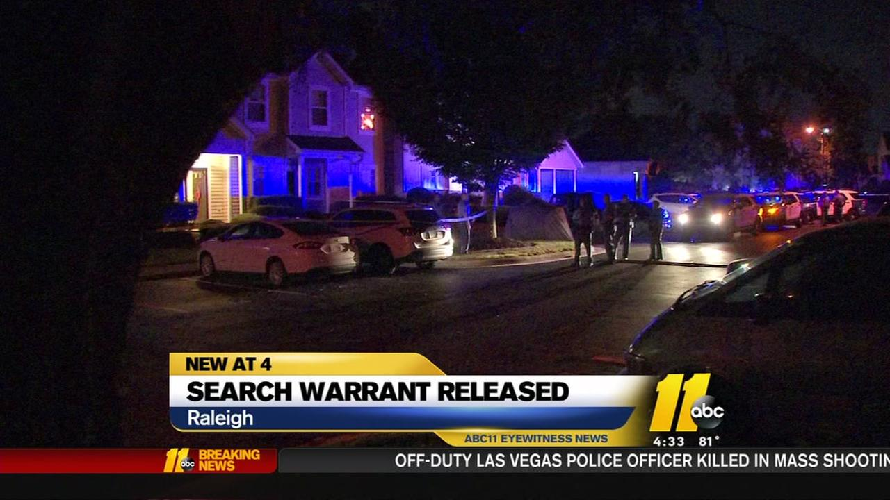 Search warrant released for Raleigh cold medicine murder case