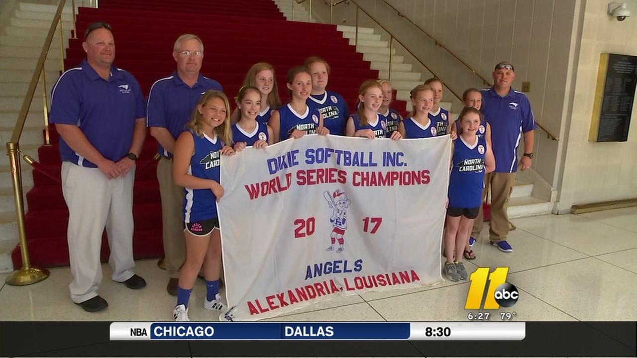 Dunn girls softball team honored by state legislature