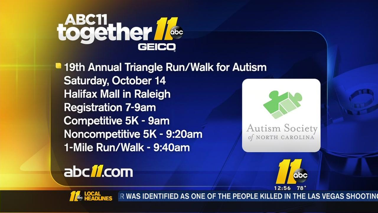 Run/Walk raises money for the Autism Society of NC