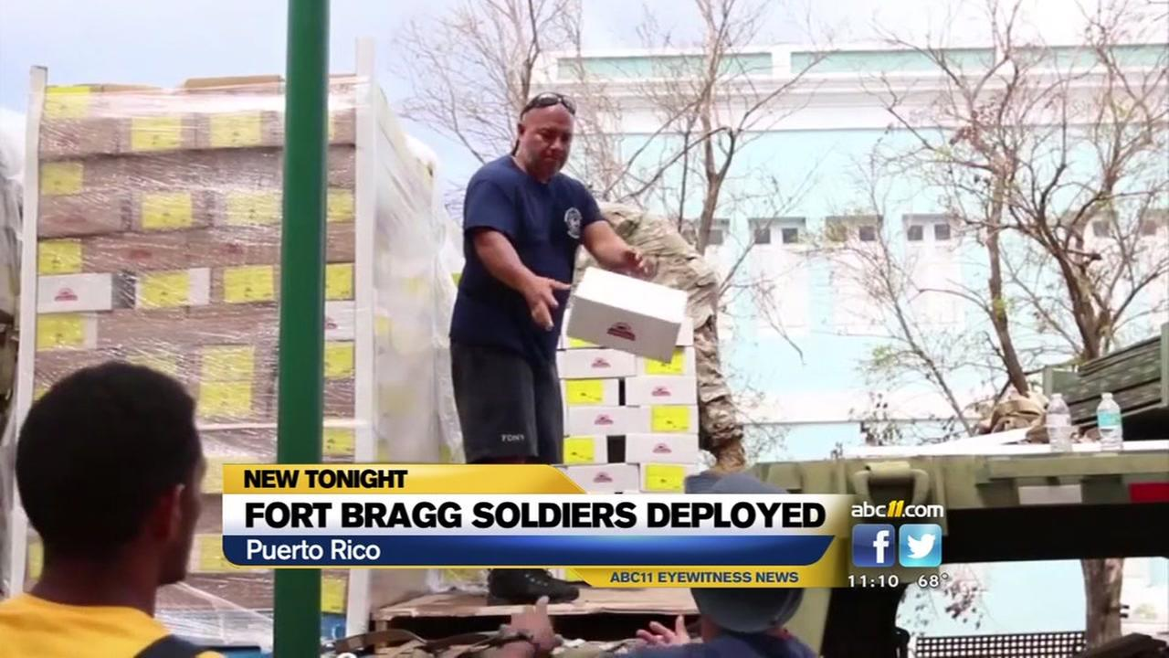 Fort Bragg soldiers helping with Puerto Rico relief efforts.