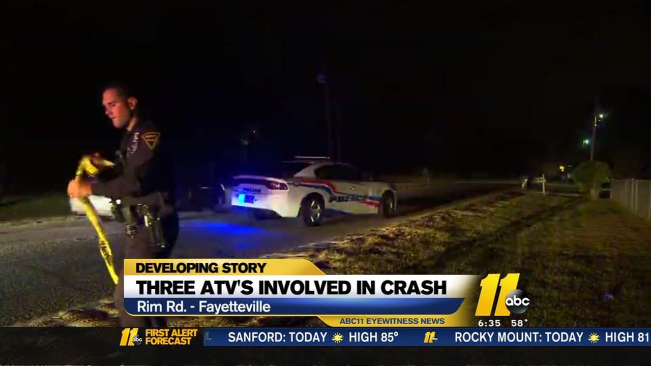 Three ATVs invovled in crash