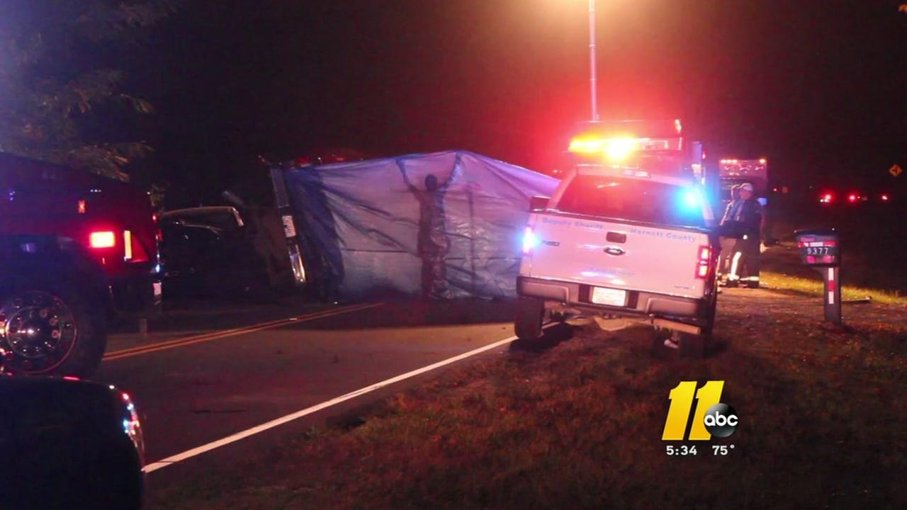 One person killed, three hurt in crash on NC-210 in Harnett County