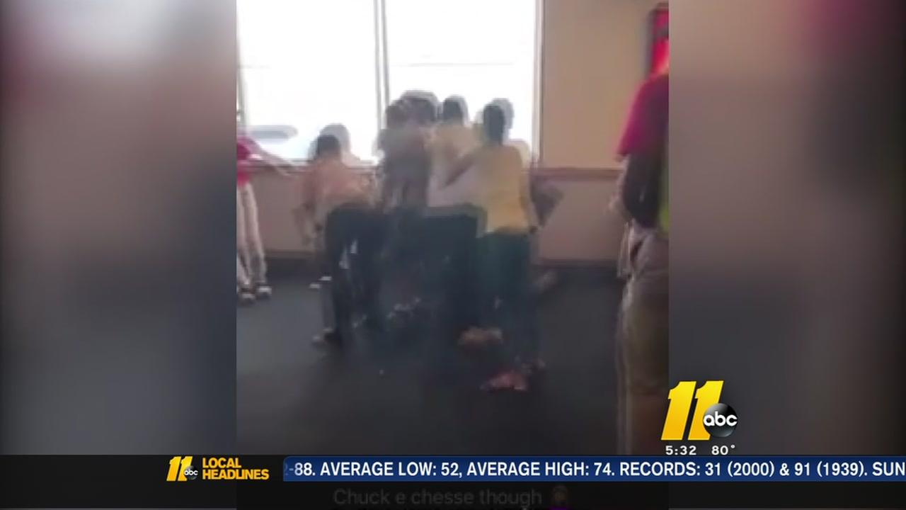Video: Fight breaks out at Fayetteville Chuck E. Cheeses