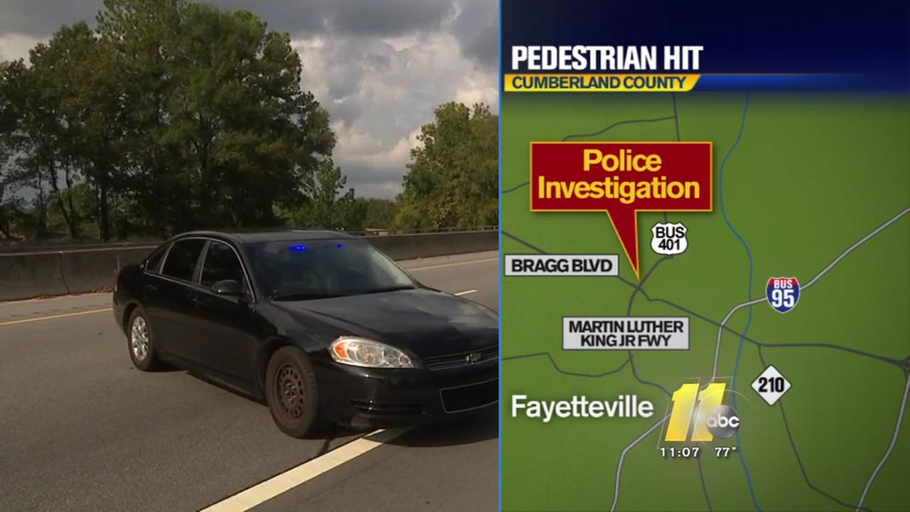 Pedestrian struck in Fayetteville dies