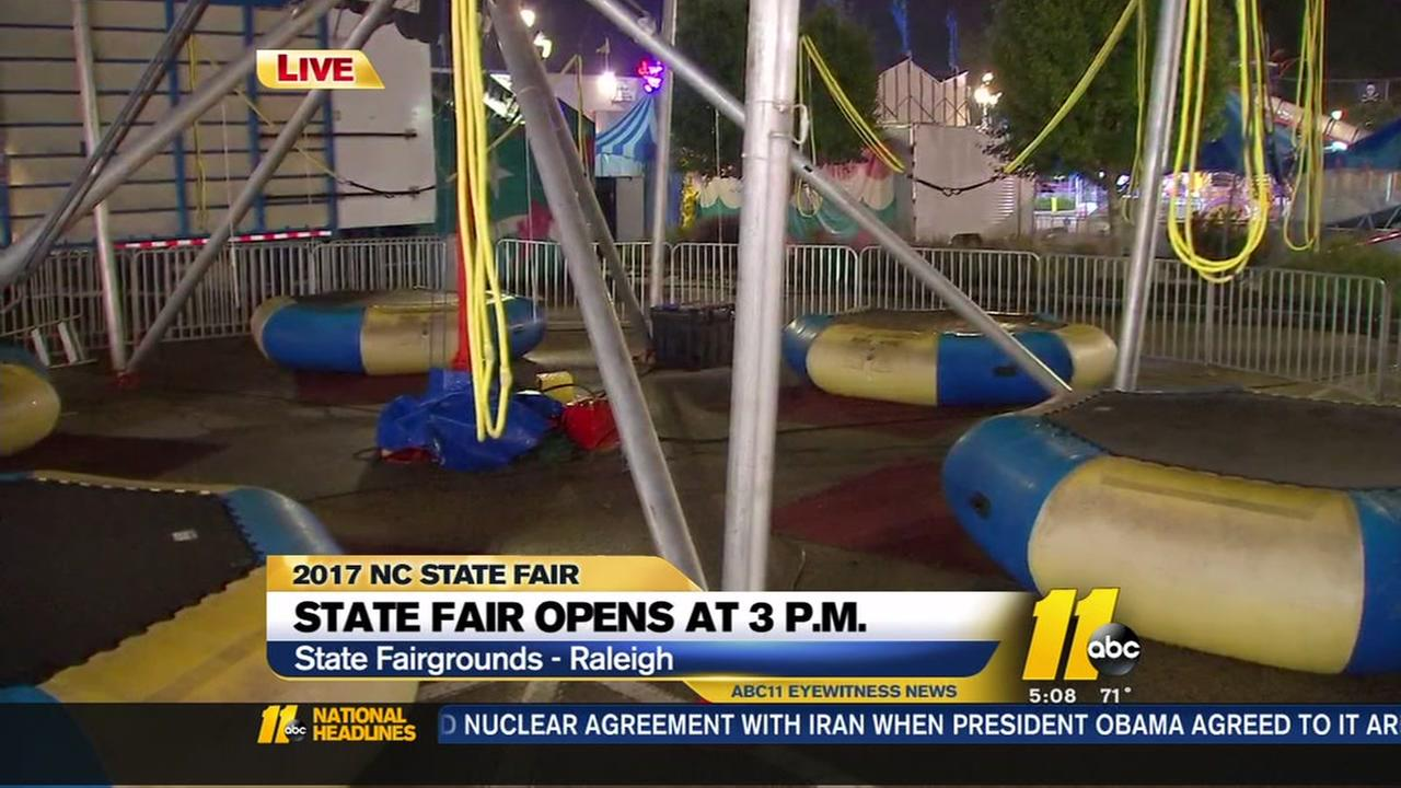 Opening Day at the North Carolina State Fair