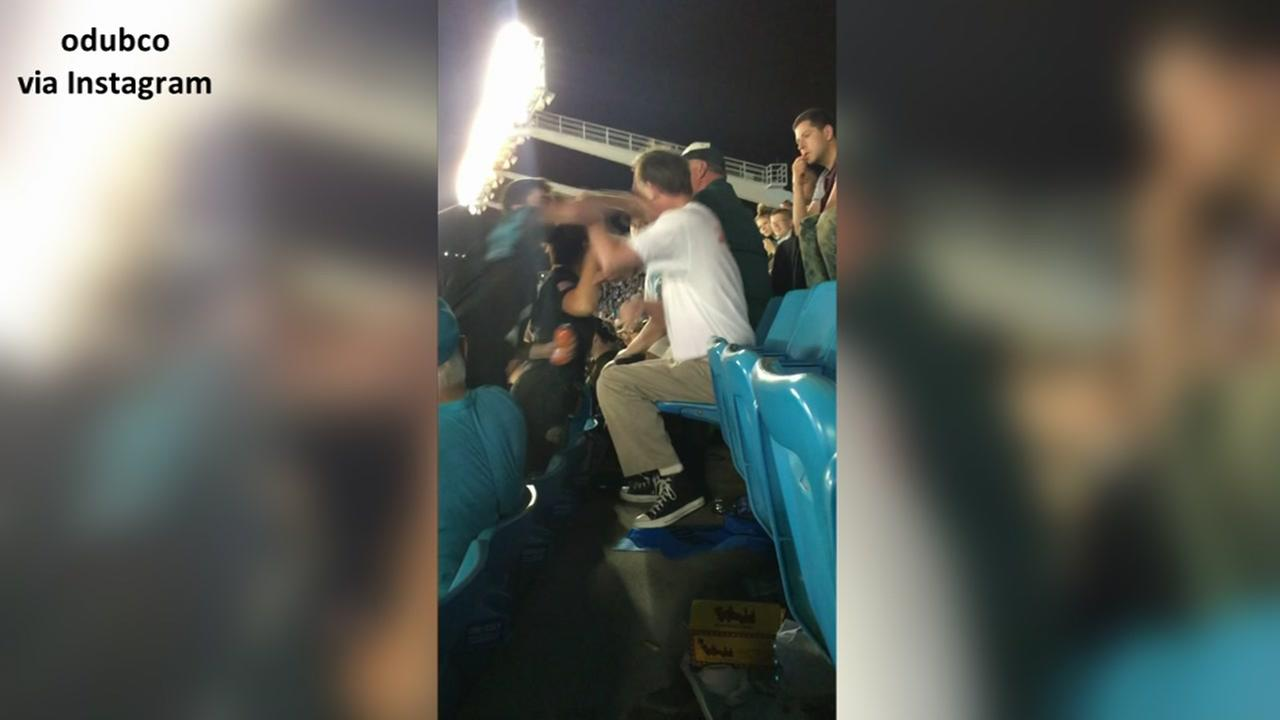 Panthers fan sucker-punches man at game