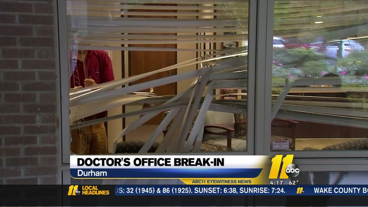 Deer crashes through window at Durham Gynecologists office