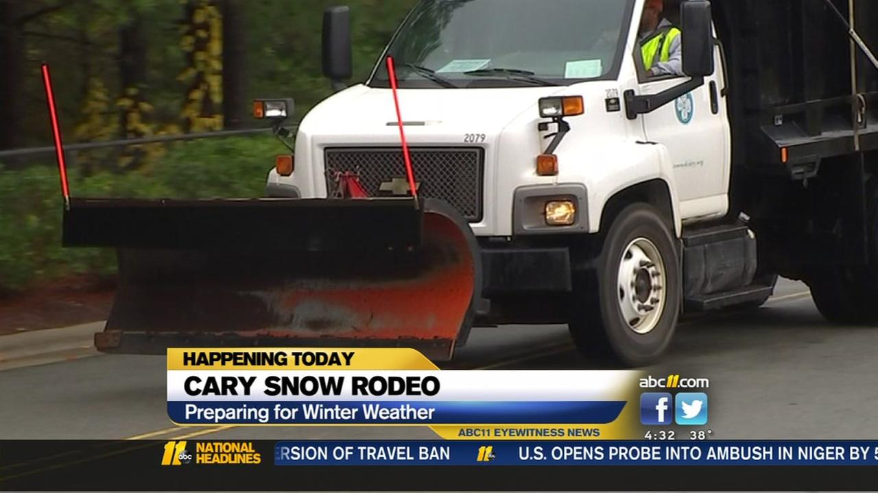 Cary preparing for winter weather