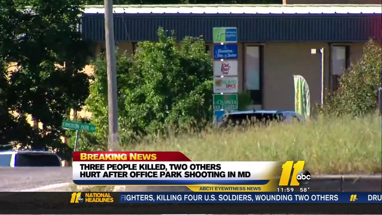 3 killed, 2 wounded at Maryland office park shooting