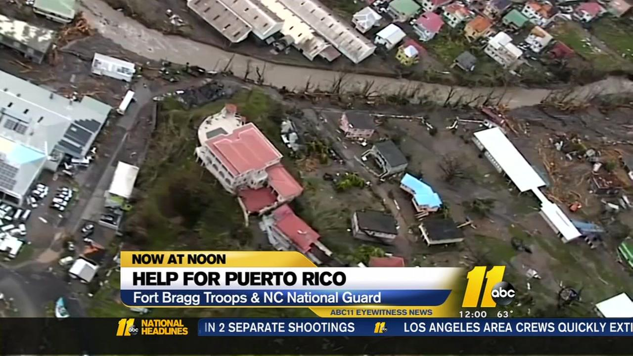 Fort Bragg helping Puerto Rico