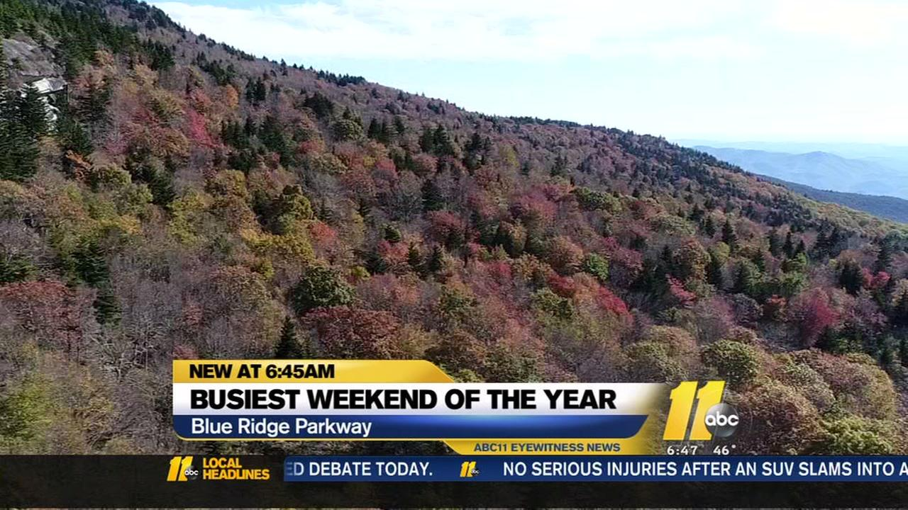Blue Ridge Parkway expects this weekend to be busiest