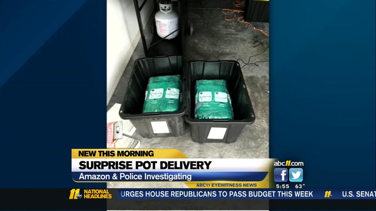 Couple finds 65 pounds of marijuana in Amazon order