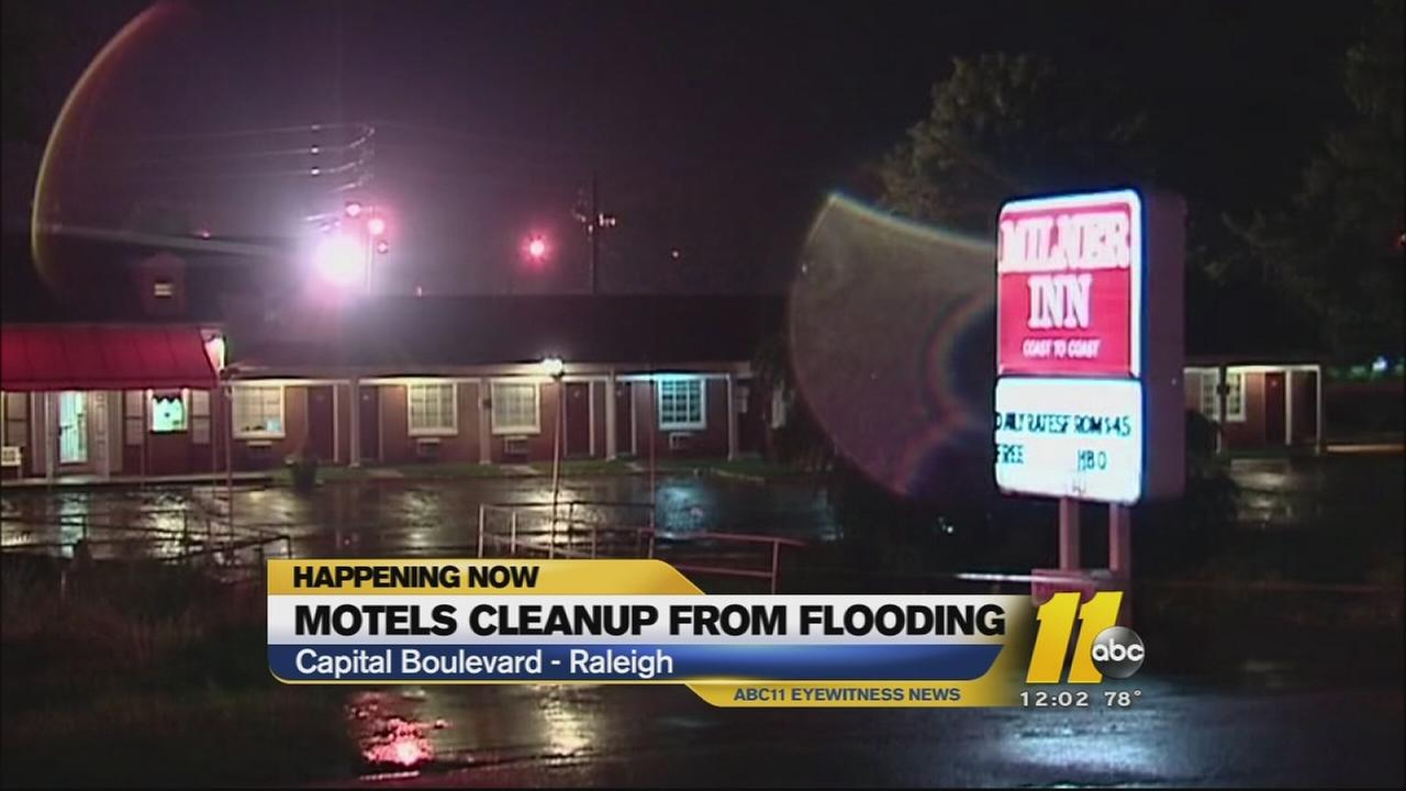 Clean up underway after flash flooding