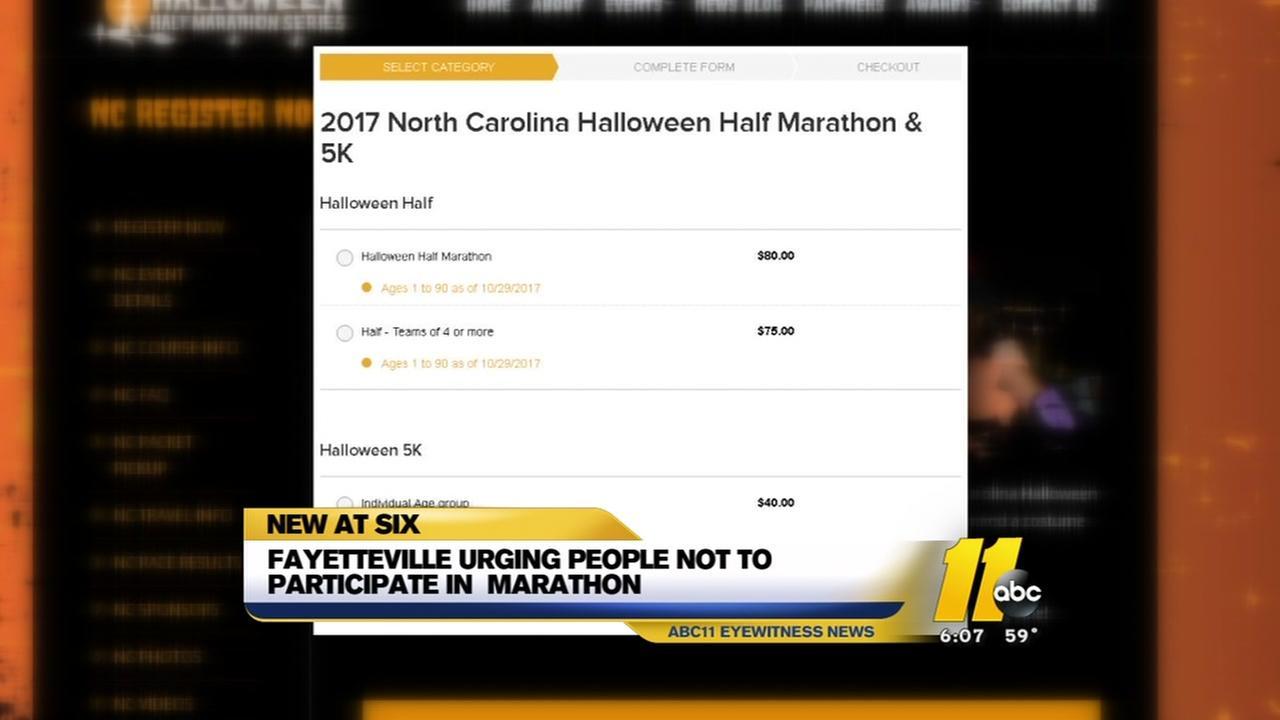 Fayetteville condemns unlawful half marathon