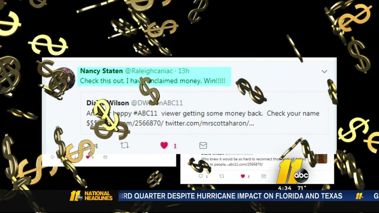 ABC11 viewers finding unclaimed money
