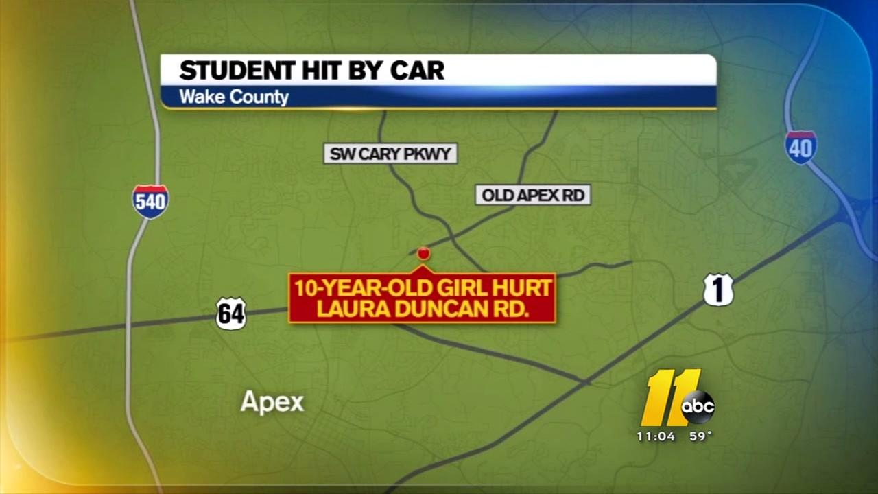 Student hit by car