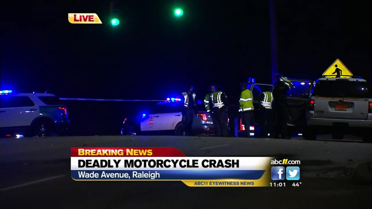 Deadly motorcycle accident closes part of Wade Avenue