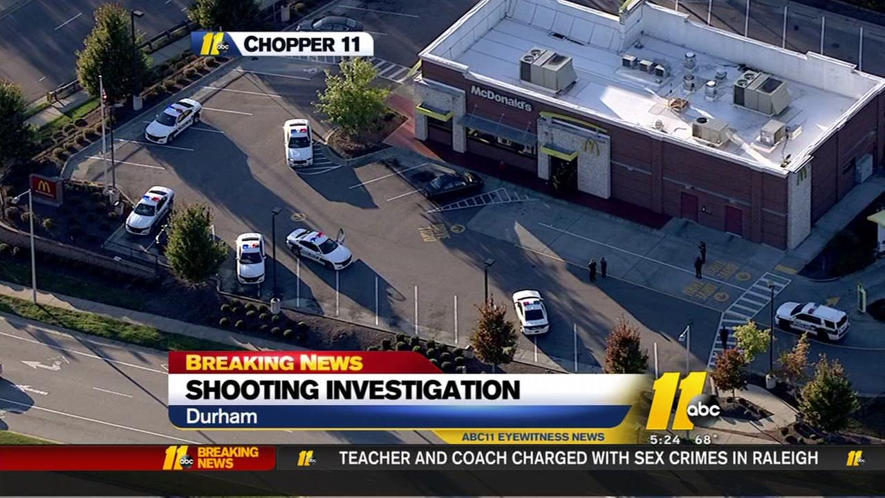 Police investigate shooting at Durham McDonalds