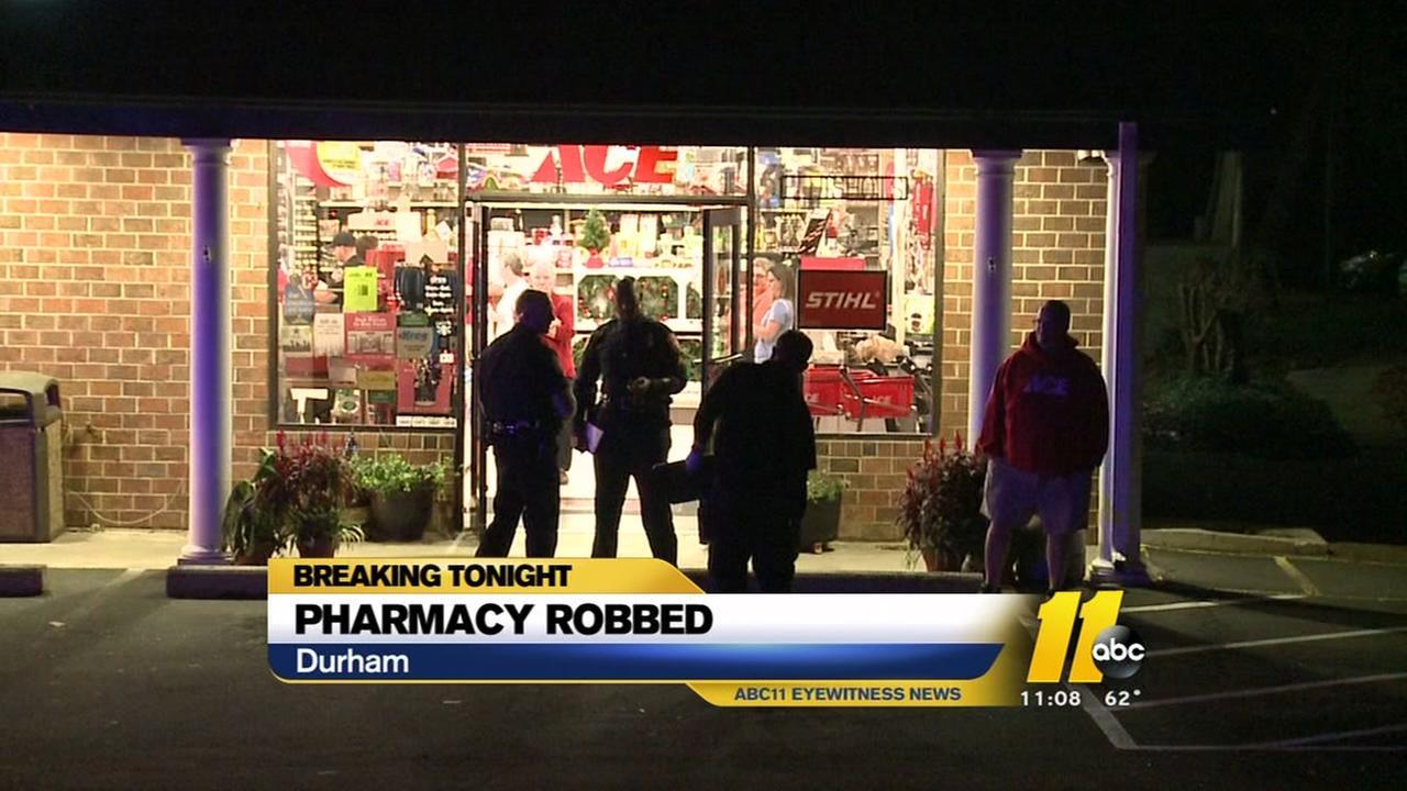 Durham pharmacy robbed at gunpoint