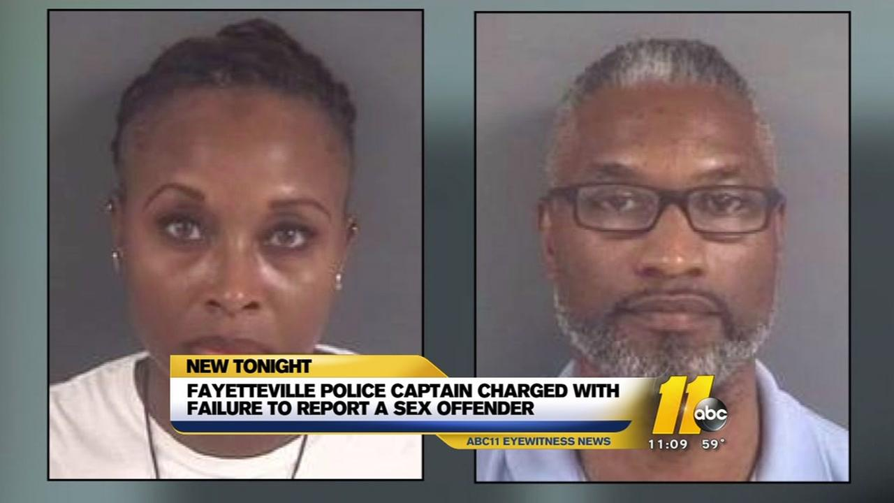 Fayetteville police captain, husband charged