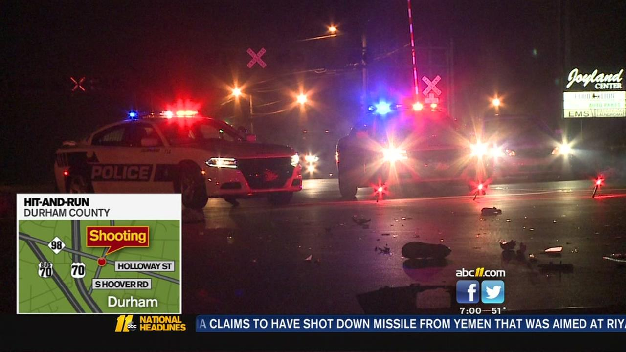 Durham police search for hit-and-run suspect.