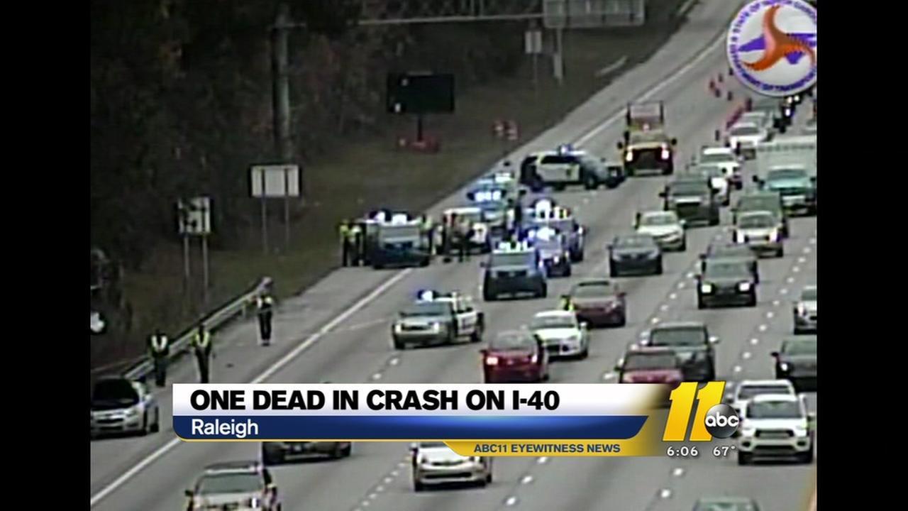 One confirmed death after crash on I-40 E