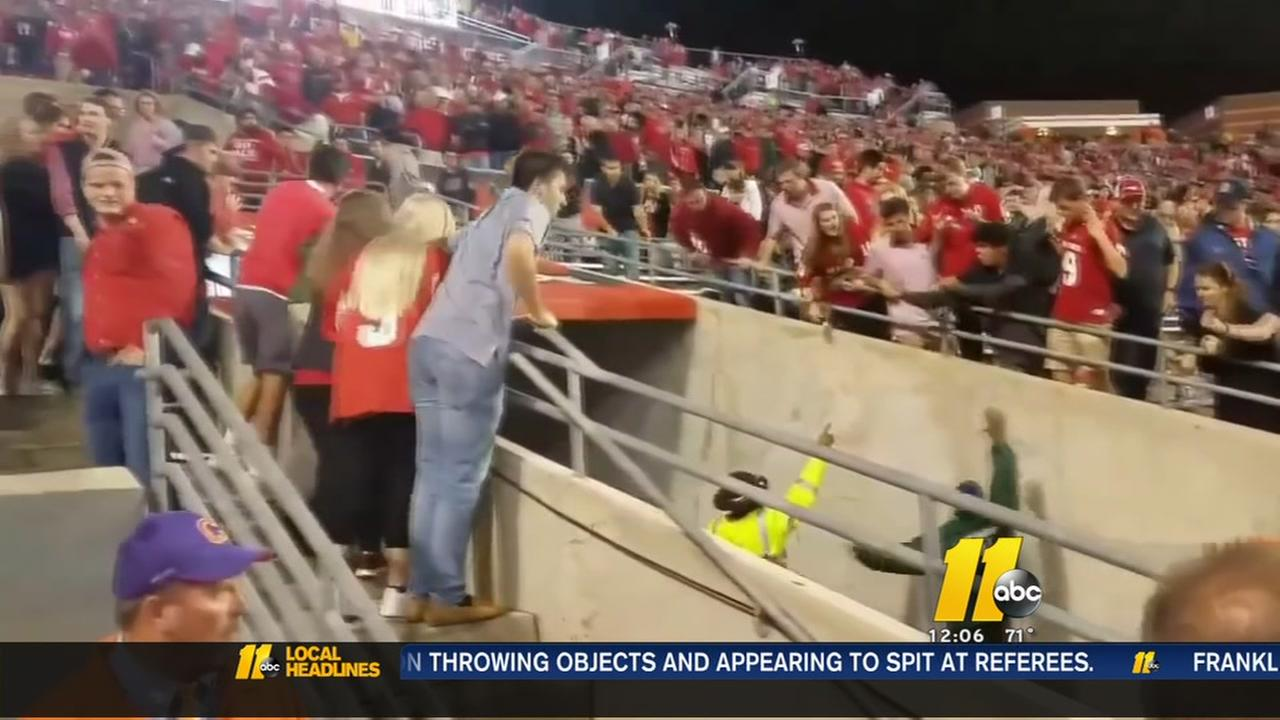 NC State police investigating referee incident at game