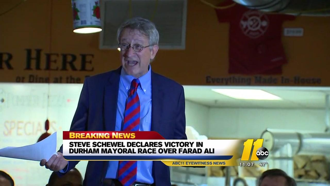 Steve Schewel declared victory in Durham mayoral race