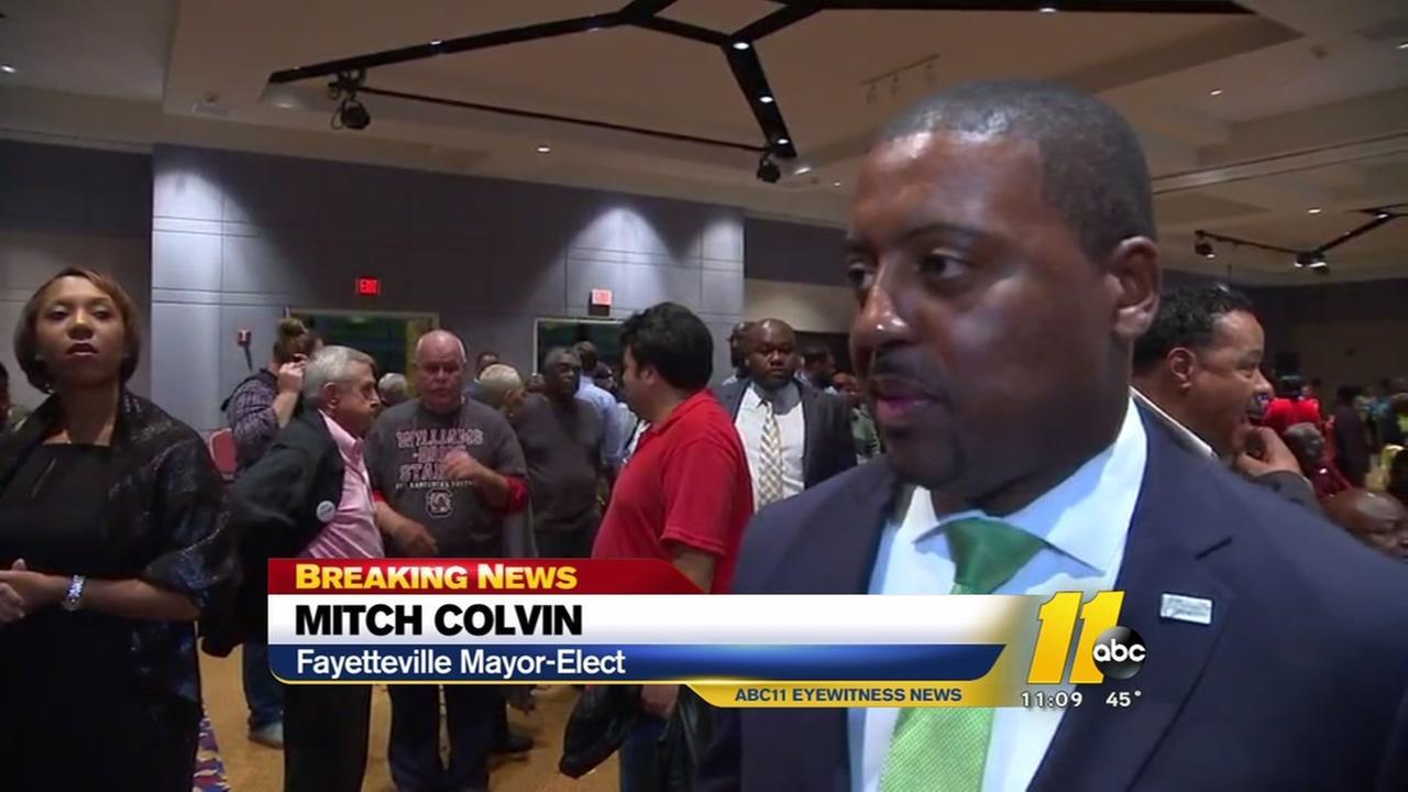 Mitch Colvin wins upset bid for Fayetteville mayor