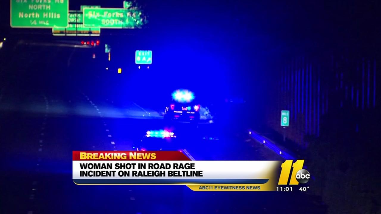 Woman shot in road-rage incident on Raleigh beltline