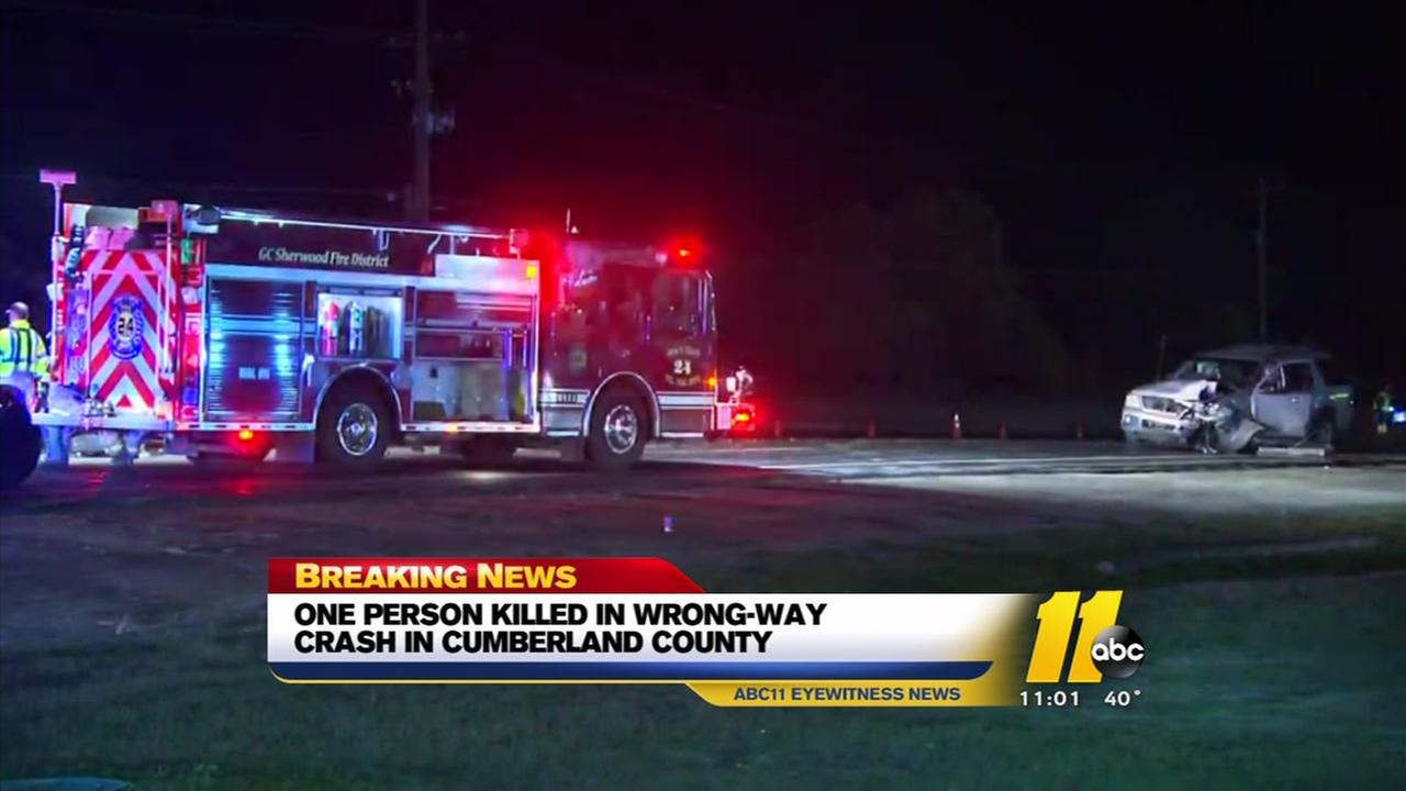 One dead in wrong-way crash in Cumberland County