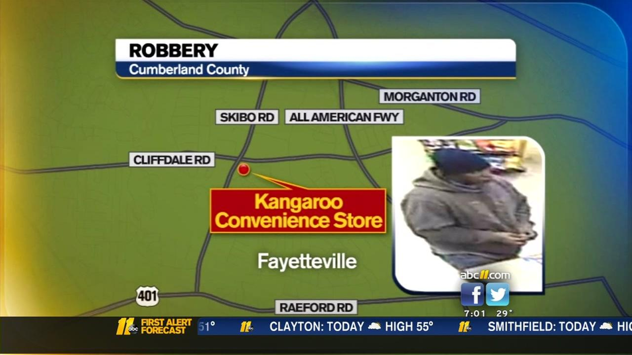 Fayetteville police are investigating two armed robberies.
