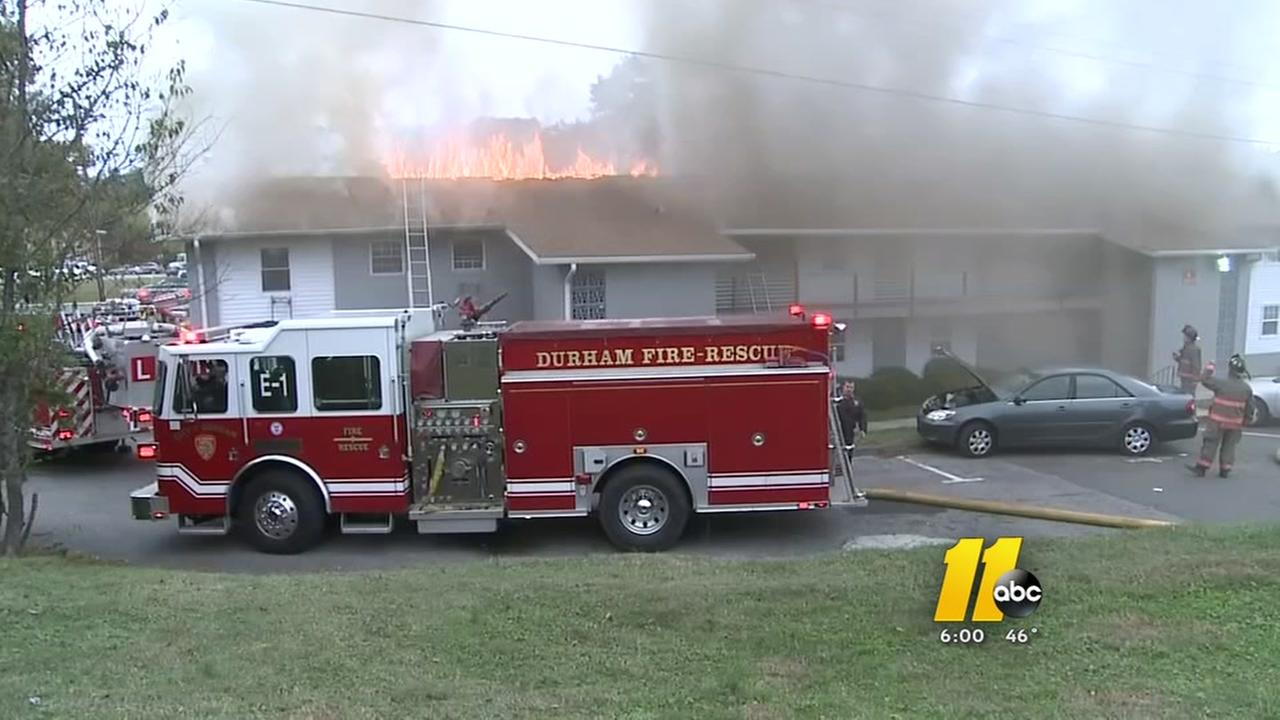 Families displaced after apartment fire in Durham