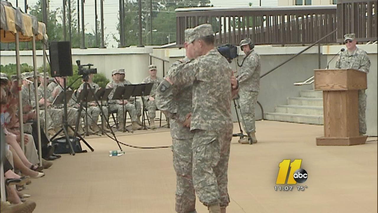 Change of command ceremony held at Fort Bragg